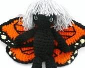 monarch butterfly fairy girl doll OOAK