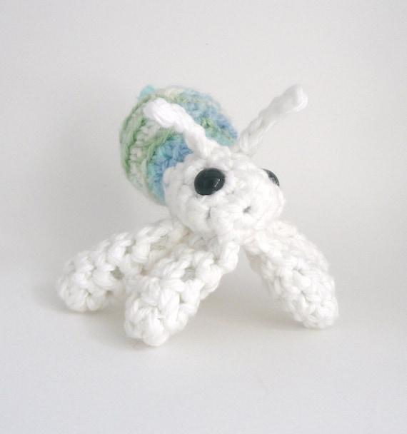 Amigurumi Hermit Crab : Items similar to Amigurumi Blue, Green and White Hermit ...