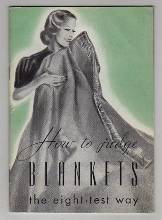 1939 HOW TO JUDGE BLANKETS St. Marys Woolen Mfg. Co ST MARYS OHIO