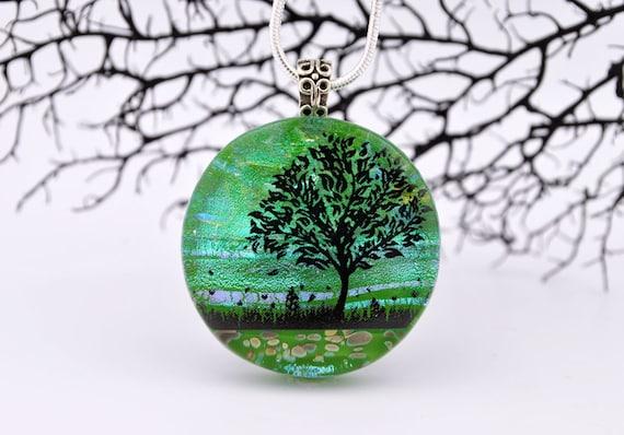 Sweet Summertime - Fused Dichroic Glass Pendant - Exclusive - Dichroic Fused Glass Pendant - Dichroic Glass Pendant - Fused Glass Jewelry