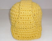 Crochet hard hat for a little construction worker