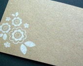 Blank Kraft Note cards...  Flat... Tags... Floral