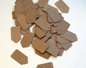 Mini Kraft Tags... tiny price tags... gift tags... merchandise tags... jewelry tags... hang tags... rustic tags...