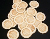 Thank You Stickers.... Envelope Seals... scalloped circles...  25 pcs... gift bags.... treat bags.... baked goods....