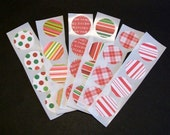 Envelope Seals... Christmas stickers... packaging... shop supplies... embellishments