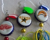 Stocking Stuffer Any 1 (Single) Christmas Gift NHL Hockey Bottle Cap Fishing Lure (Convo Me First Your Team) for Availability Gift for Men