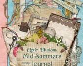 Mid Summers Journal - Digital Scrapbooking Kit - 13 Great Papers and over 50 Elements and WordArt - 4.75