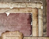 Digital Scrapbooking Papers - Impressions - My Love - Torn and Worn Papers - A Great way to start your Fall Layouts and Designs
