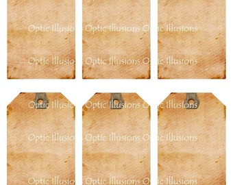 Blank Gift Tags - Commercial Use - Great start to your art projects. Plus extra sheet for the backside - INSTANT DOWNLOAD -2.50