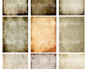 Background Papers - SHEET 8 - 2.5 x 3.5  - Scrapbooking, Card Supplies, Journaling2.50