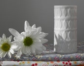 Vintage (Mid Century) Hutschenreuther Vase with Diamond or Leaf Motif