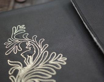 iPad Mini 2 3 Leather Sleeve - BLACKY (Organic Leather)