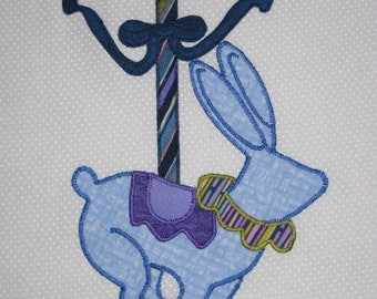 Carousel animals quilt blocks