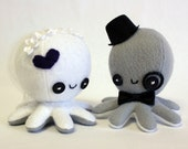 Custom octopus wedding cake toppers