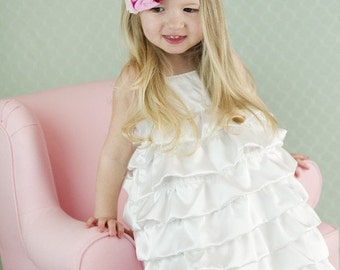 Beautiful White Satin Bubble Dress..10 and 12..dressbabybeautiful