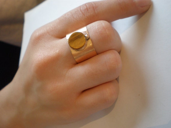 Tigereye antique ring