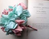 Vintage Fabric Flower Girl Bouquet