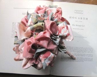 Vintage Fabric Flower Bouquet * Bridal Bouquet * Alternative Bride's * OOAK Bouquets * Vintage Weddings * Bridesmaids Bouquets * Textiles *