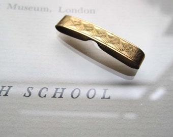 Vintage Tie Clip *  Gold Bar * 1930's Tie Clip
