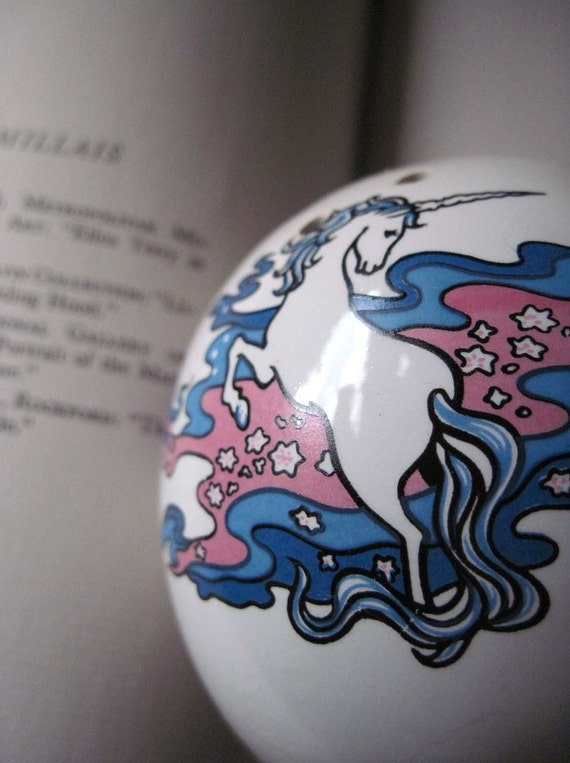 1980s Unicorn Potpourri Ball