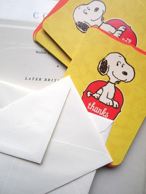 Vintage Hallmark Snoopy Thank  You's