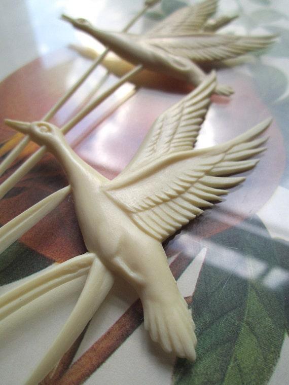 Vintage Plastic Birds