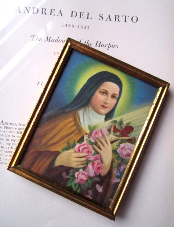 Small Vintage Religious Framed Print