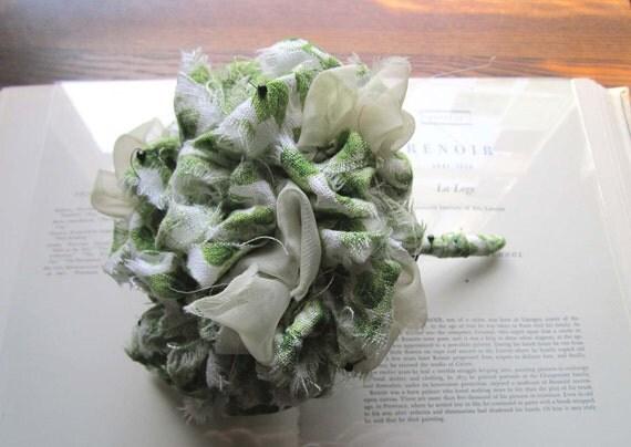 on reserve Vintage Fabric Flower Bouquet