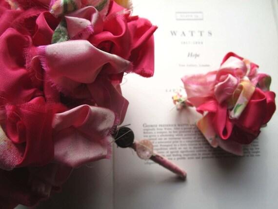 Vintage Fabric Flower Bouquet