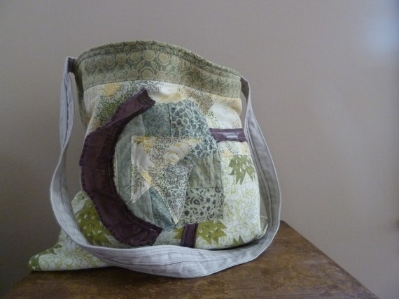SALE - the sweet green patch bag....