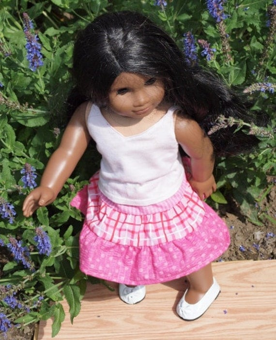 18 inch Dolls Clothes - American Girl Doll Clothes Summer Skirt Outfit