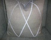 Custom order for Rachel Beige Criss Cross Pillow Cover