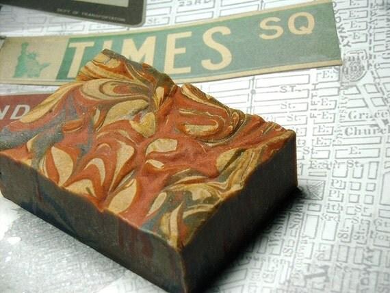 Embargo Handmade Soap - resinous incense - soft vanilla - woods- transparent cherry