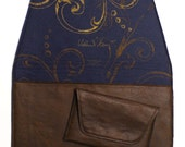 kindle 3 sleeve in fake leather with hand silk printed felt interior with magnet flap