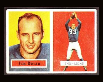 1957 Topps Football 3 Vintage  Cards Jim Doran Jim David Dave Middleton Detroit Lions