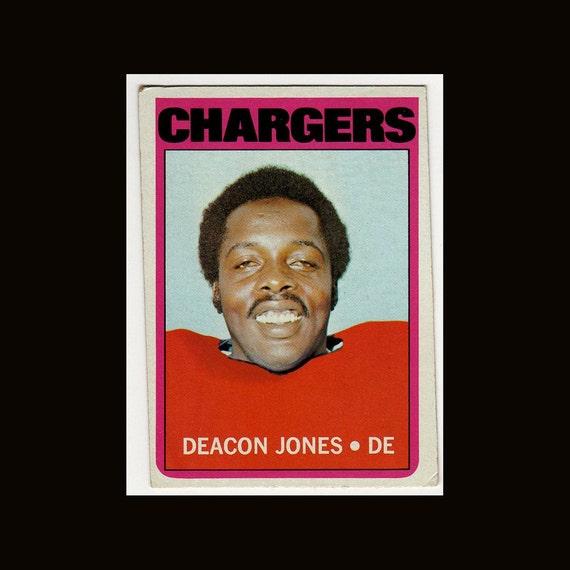 5 1972 Topps Football  Cards Deacon Jones John Adl Mike Garrett Gary Garrison and Walt Sweeney Vintage