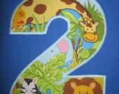 Personalized SSlv Shirt w/Jungle Animal Print Initial