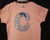 Personalized Inital or Birthday Number Cinderella/Castle sslv shirt