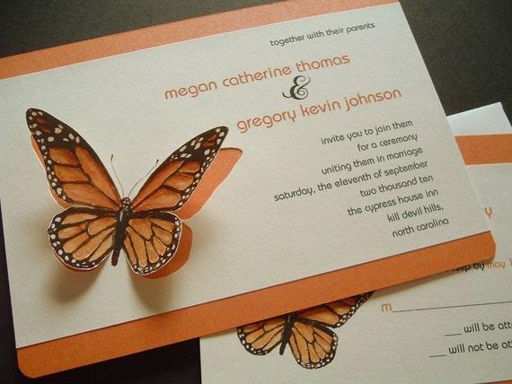 Wedding Butterfly Invitations: Monarch Butterfly Wedding Invitations Sample