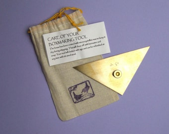 Medium Brass right triangle for bookbinding and boxmaking