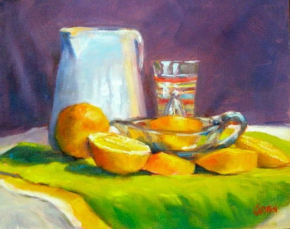 ON SALE Sunshine Collection, 8x10 Original Oil Painting 25% OFF