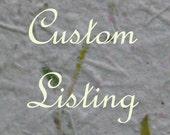 Custom Listing for Cindy M.
