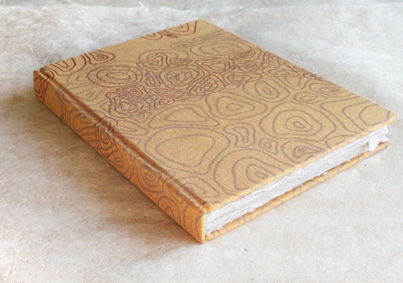 The Ruth - Recycled Handmade Paper Journal with Gold Screen Printed Cover