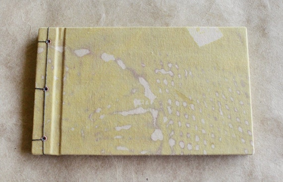 SALE 50% off! Yellow Hand Dyed Journal - The Lydia