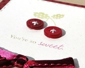 SALE Pink Button Cherry You're Sweet Card