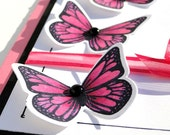 Graphic Pink Butterfly Birthday Card