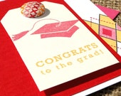Pink Argyle Graduation Card