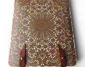 Leather iPad (1and2) case - Antique lace
