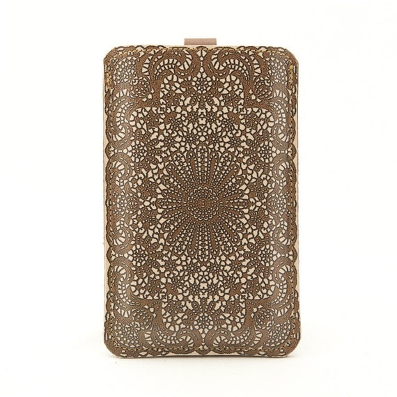 Leather iPhone/iTouch/HTC (Desire&Mozart) Case - Antique lace