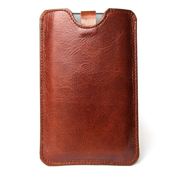 Cognac brown leather iPhone (All) iTouch (All) case